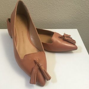 Banana Republic Nude Pointy Toe Tassel Flats